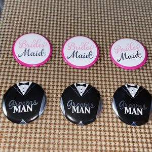 Bridesmaid & Groomsman Pins